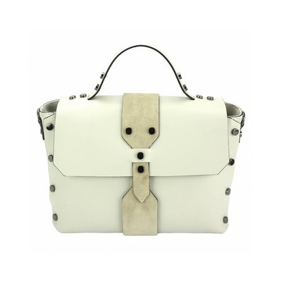 Elegante handtas met sterke lijnen Beige kleur Rossella