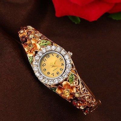 Trendy meisjes dames horloges gouden kleur tinten met kristalen