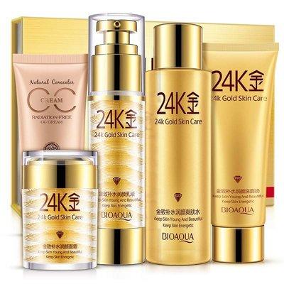 Mooie stralende huid met 24 Karaat Goud 5 stappen kit