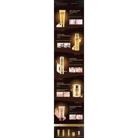 Mooie stralende huid met 24 Karaat Goud 5 stappen set met collageen