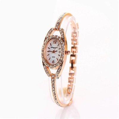Luxe armband sieraad horloge met kristalen