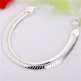 925 Sterling zilver dames armband met slot klassieke model