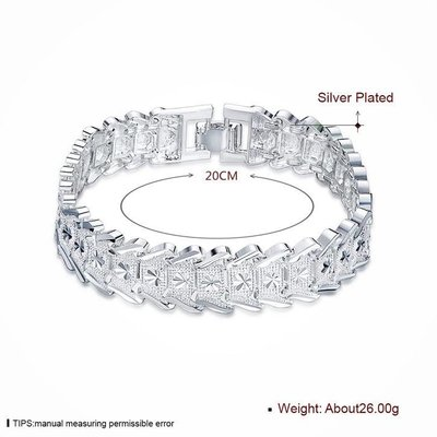925 Sterling zilver heren armband mooie model