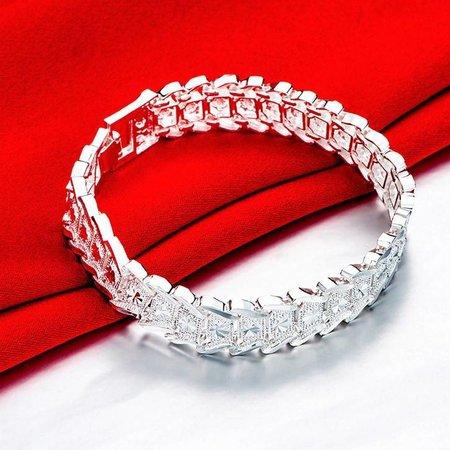 925 Sterling zilver heren armband met slot verstelbaar