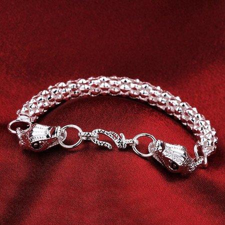 925 Sterling zilver heren armband met stoere draken kop