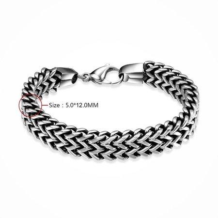 Trendy gift armband zilver metaal heren armband met slot