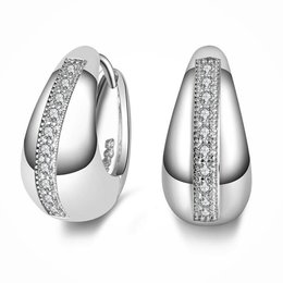 925 Sterling zilver druppel oorbellen met kristalen
