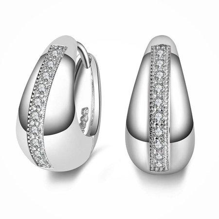 925 Sterling zilver druppel oorbellen versierd kristalen