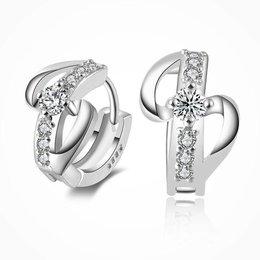 925 Sterling zilver studs oorbellen met kristalen