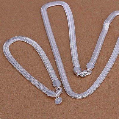 Armband met ketting set sterling zilver voor dames en heren