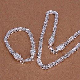 Armband met ketting in een set sterling zilver voor dames