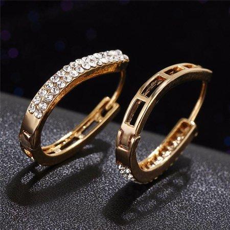Goud kleur kristallen oorbellen trendy dames sieraden