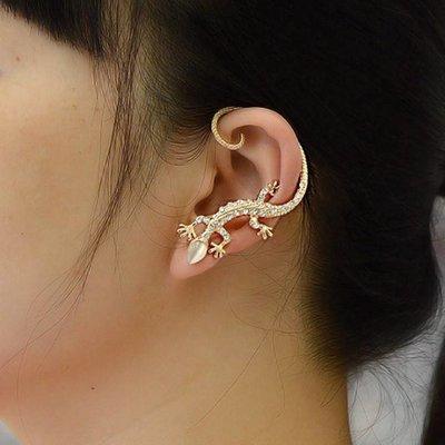 Punk gothic style 1 paar oor manchetten sieraden goud kleur
