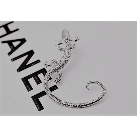 Punk gothic style 1 paar oor manchetten hagedis sieraden zilver kleur