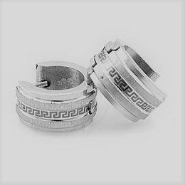 Oorringen met zilver glans met matte kleur RVS