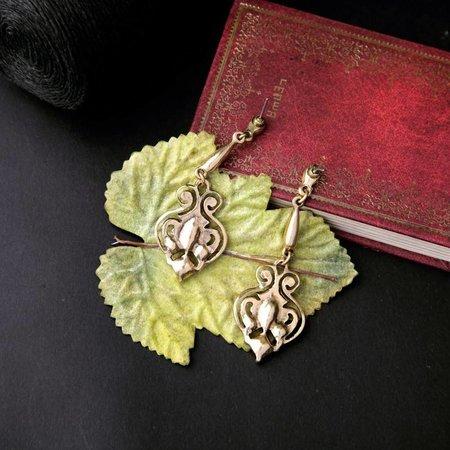 Trendy Goud kleur versierd met groene hart oorbellen druppelvorm
