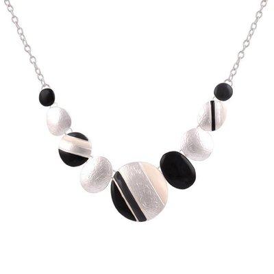 ring zwart zilver