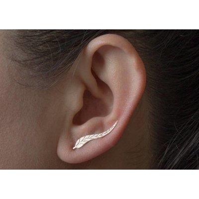 Oor manchet oor sieraad goud kleur blad vorm