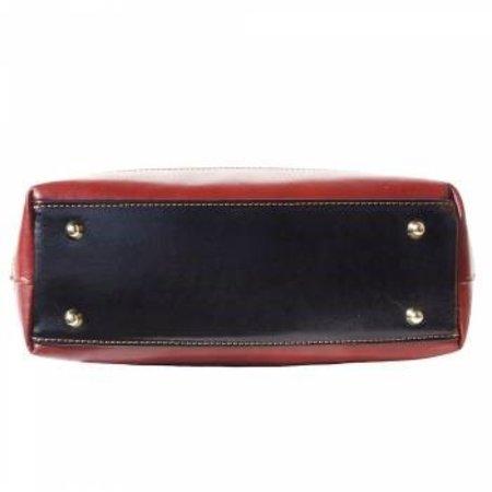 Mooie draagtas van soepele kalfsleder in zwart met bruine kleur Tote bag