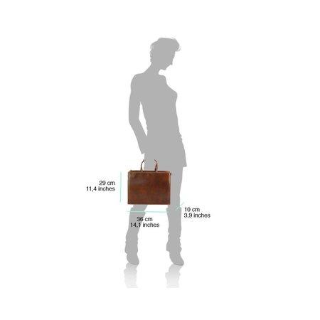 Aktetas laptoptas bruine kleur hoogwaardige kwaliteit kalfsleder