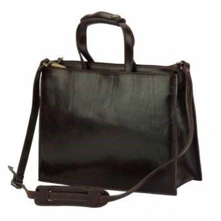 Aktetas laptoptas donker bruine kleur hoogwaardige kwaliteit kalfsleder