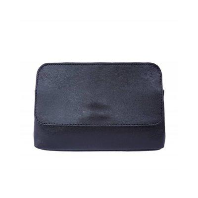 Elegante leren tas met afneembare riem zwart kleur