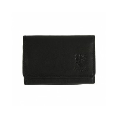 Leren portemonnee in zwart kleur model Rina