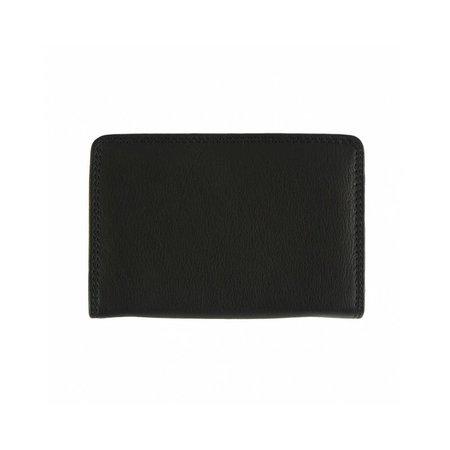 Leren portemonnee in zwart kleur mooie kleinere model