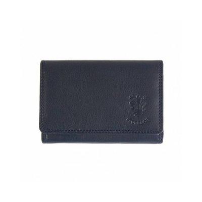 Leren portemonnee in donker blauwe kleur model Rina