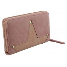 Roze kleur portemonnee met grote ster