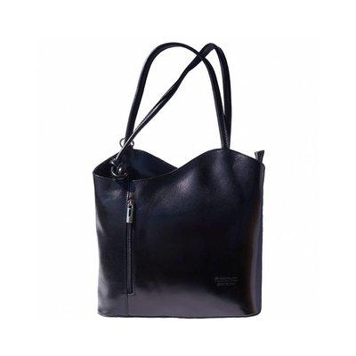 Te dragen als Schoudertas of rugzak mooie leer klassieke model in zwart kleur