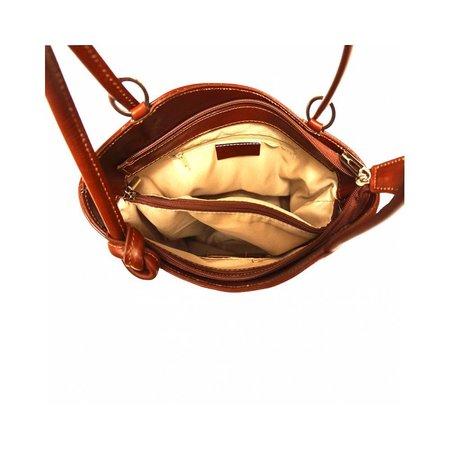 Te dragen als Schoudertas of rugzak mooie klassieke model in leer bruin kleur