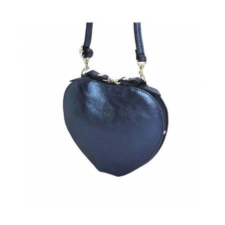 Cuore cross-body leren tasje in donker blauwe kleur
