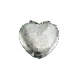 Cuore cross-body leren  tas zilver kleur