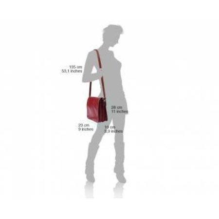 Handtas /schoudertas Postbode schoudertas aktetas naturel leder kleur kleine medium model