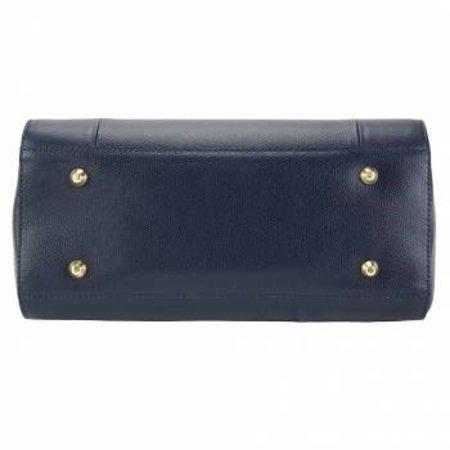 Leren Handtas in donker blauwe kleur tijdloze model