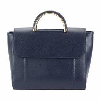 Leren Handtas in donker blauwe kleur