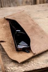 """Leder Brillenetui, braun """"Werkschutz"""" aus Vintage-Leder"""