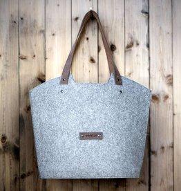 """Tragewerk"" felt tote bag, carry all shopper tote"