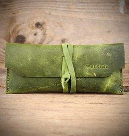 Werkschutz leather glasses case, green