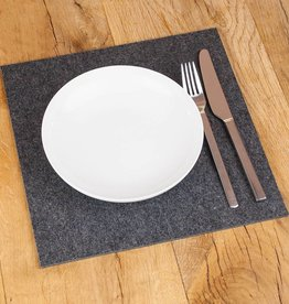 Felt placemats quadrat dark gray mixed