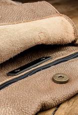 """werktat Schultertasche, Hobo Bag, Sommertasche aus weichem, knautschigem Büffel-Leder mit 70er-Jahre Vintage-Look, Ledertasche """"Beutesack"""" braun caramel"""