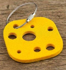 felt key chain cheese, yellow