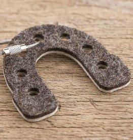 werktat felt key chain lucky horseshoe, bicolor brown beige
