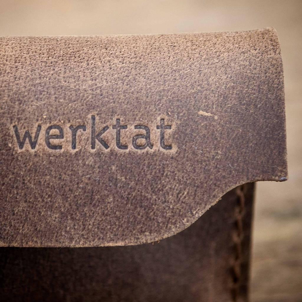 """werktat Leder Brillenetui, braun """"Werkschutz"""" aus Vintage-Leder"""