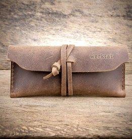 Werkschutz the leather glasses case, brown,