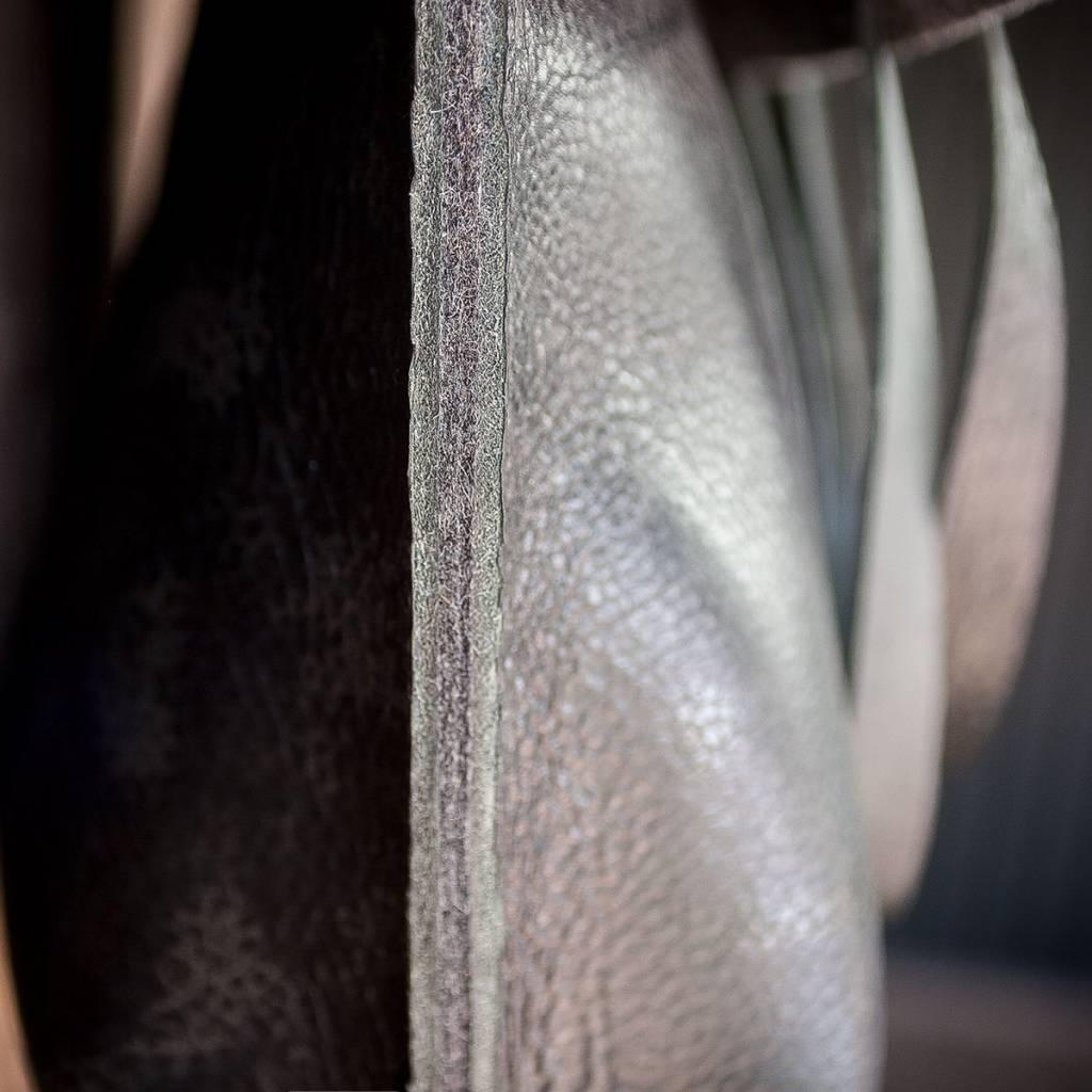 """werktat Umhängetasche Leder schwarz mit Filz """"Charakterstück"""" Messenger Bag"""