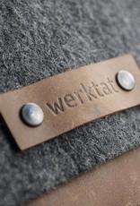 """werktat Messenger Bag, Filz, Leder braun, Umhängetasche, Filztasche, Ledertasche """"Werksbote Emil"""" für Männer und Frauen"""