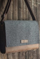werktat Messenger Bag, felt, leather brown, shoulder bag, tucker bag, Werksbote Max