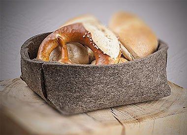 Filz Brotkörbe und Utensilos